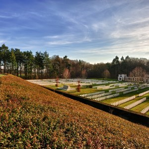 View on the war cemetery of Tyne Cot, near Ypres, Belgium