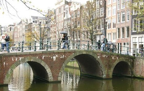 Bridge and canal in Amsterdam, the Netherlands/Holland