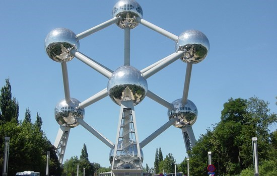 The Atomium on a sunny day, Brussels, Belgium