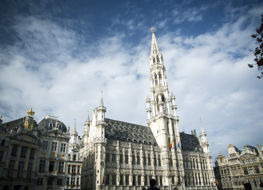 Brussels Town Hall on the Grand Place